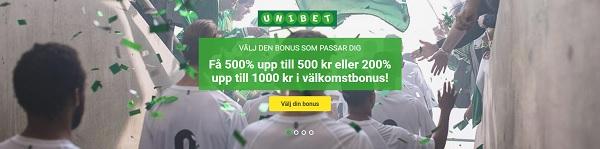 Flera bonusar att välja mellan hos Unibet