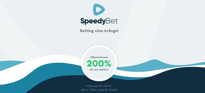 SpeedyBet oddsbonus 2019 - 200% upp till 2000 kr